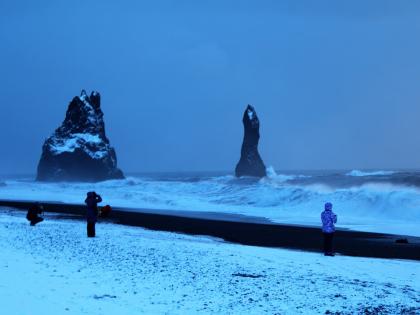 Рейнис дрангар зимой, фото Стасмир, photo Stasmir