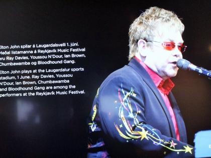 Элтон Джон в Исландии, rokksafnið, Keflavík, музей рока в Кефлавике, фото Стасмир, photo Stasmir, музей исландского рока, исландский музей рок-н-ролла