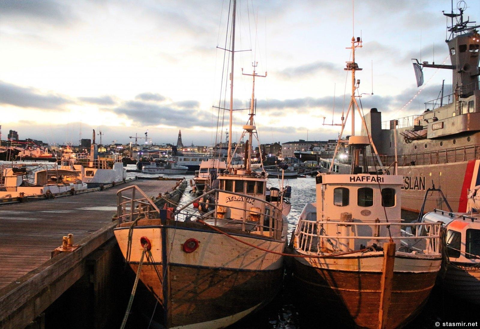 кораблики в гавани Рейкьявика, Факсафлои, фото Стасмир, Photo Stasmir