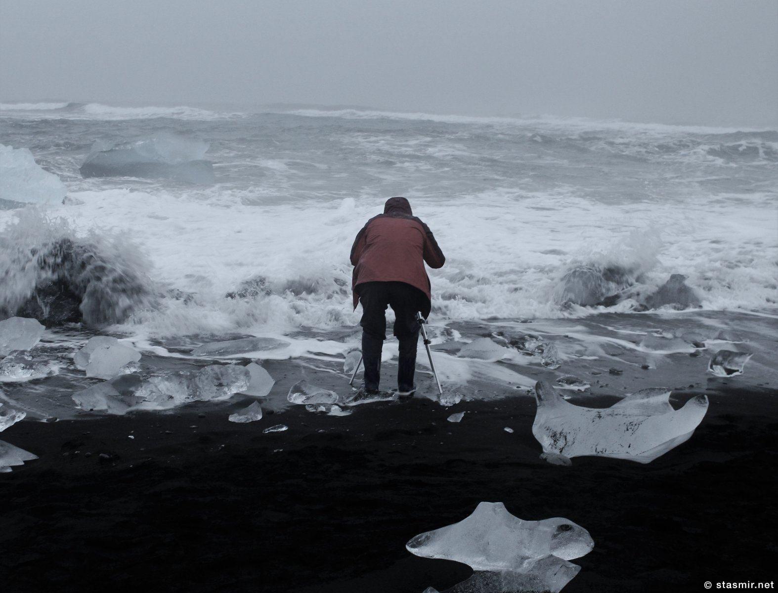 фотограф среди льдов в Йёкюльсаурлоун, фото Стасмир, photo Stasmir, stasmirnet