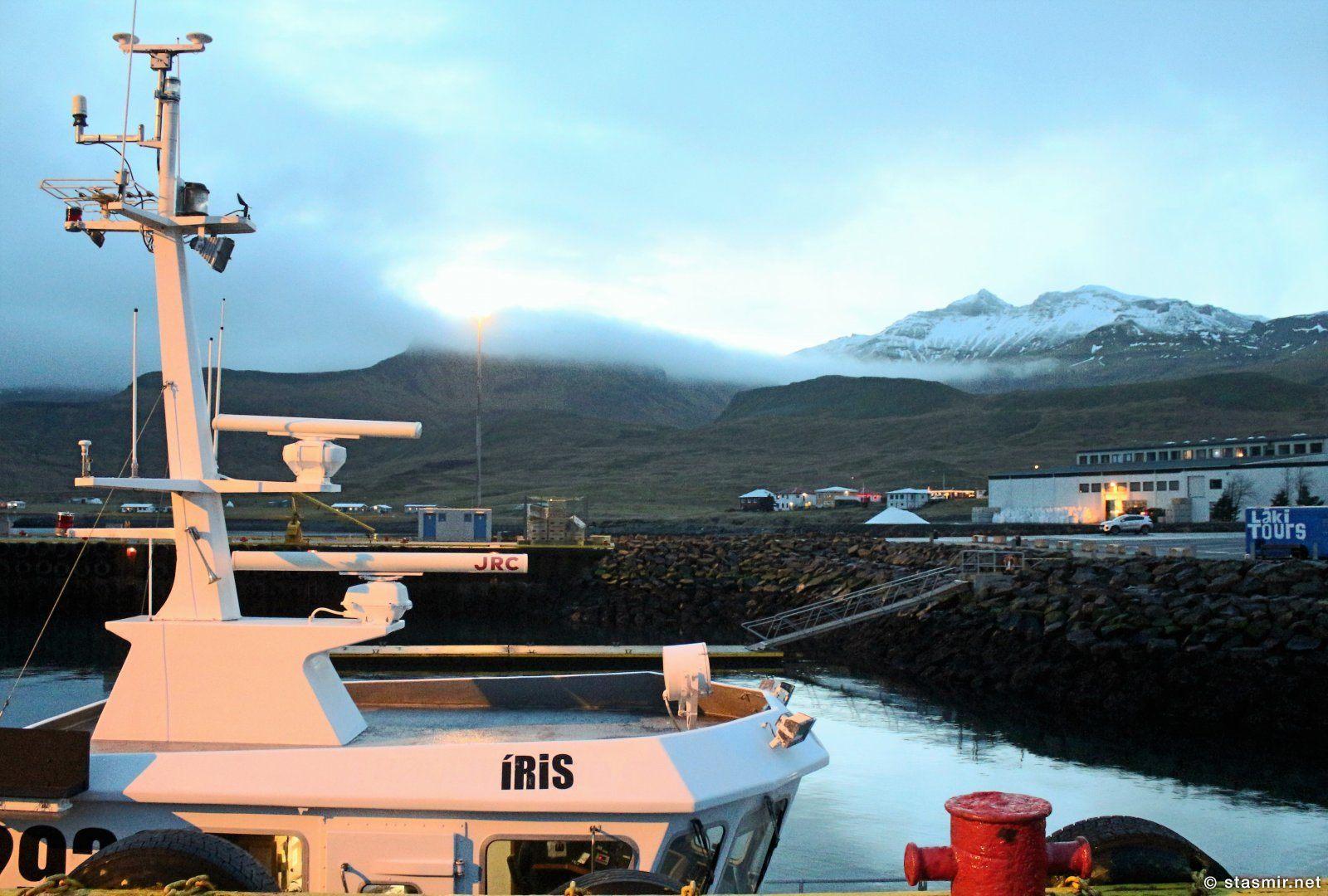 Грюндарфьёрдю, Западная Исландия, малые суда в порту, фото Стасмир, photo Stasmir