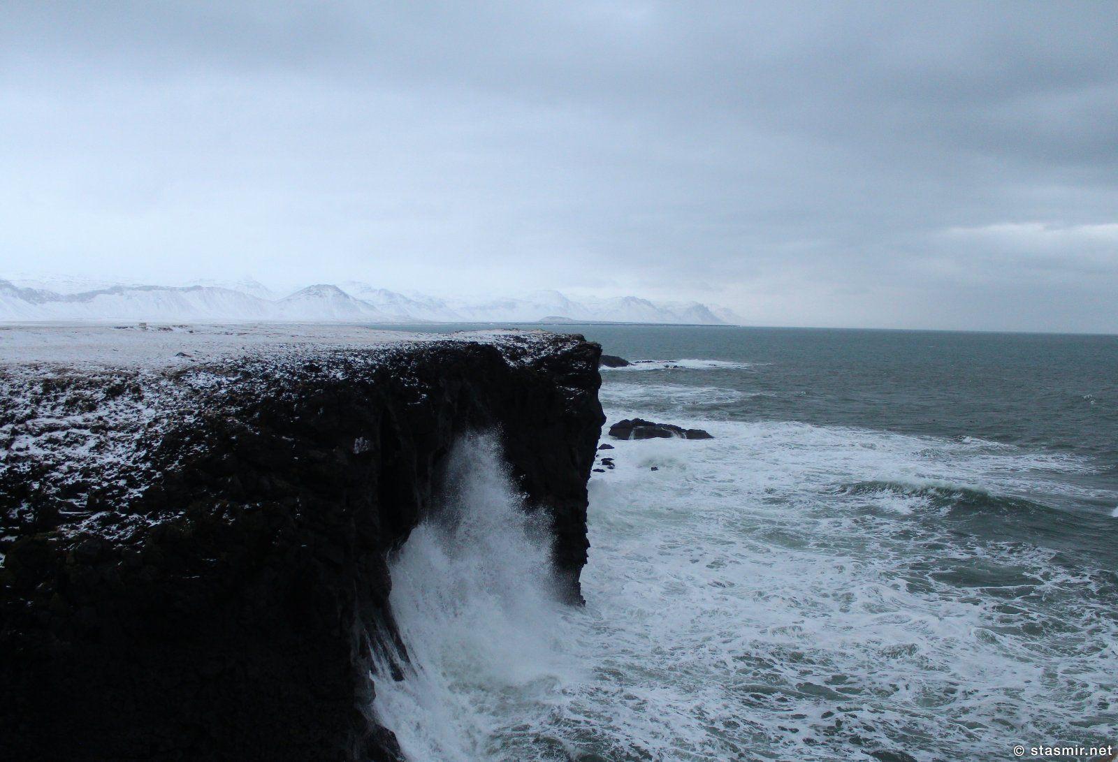 Скалы Арнарстапи, Западная Исландия, полуостров Снйфедльснес, фото Стасмир, photo Stasmir, stasmirnet, stasmircom