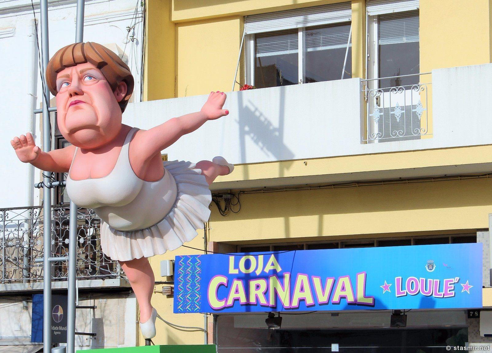 Ангела Меркель на карнавале в Луле, Loule, Португалия, фото Стасмир, photo Stasmir