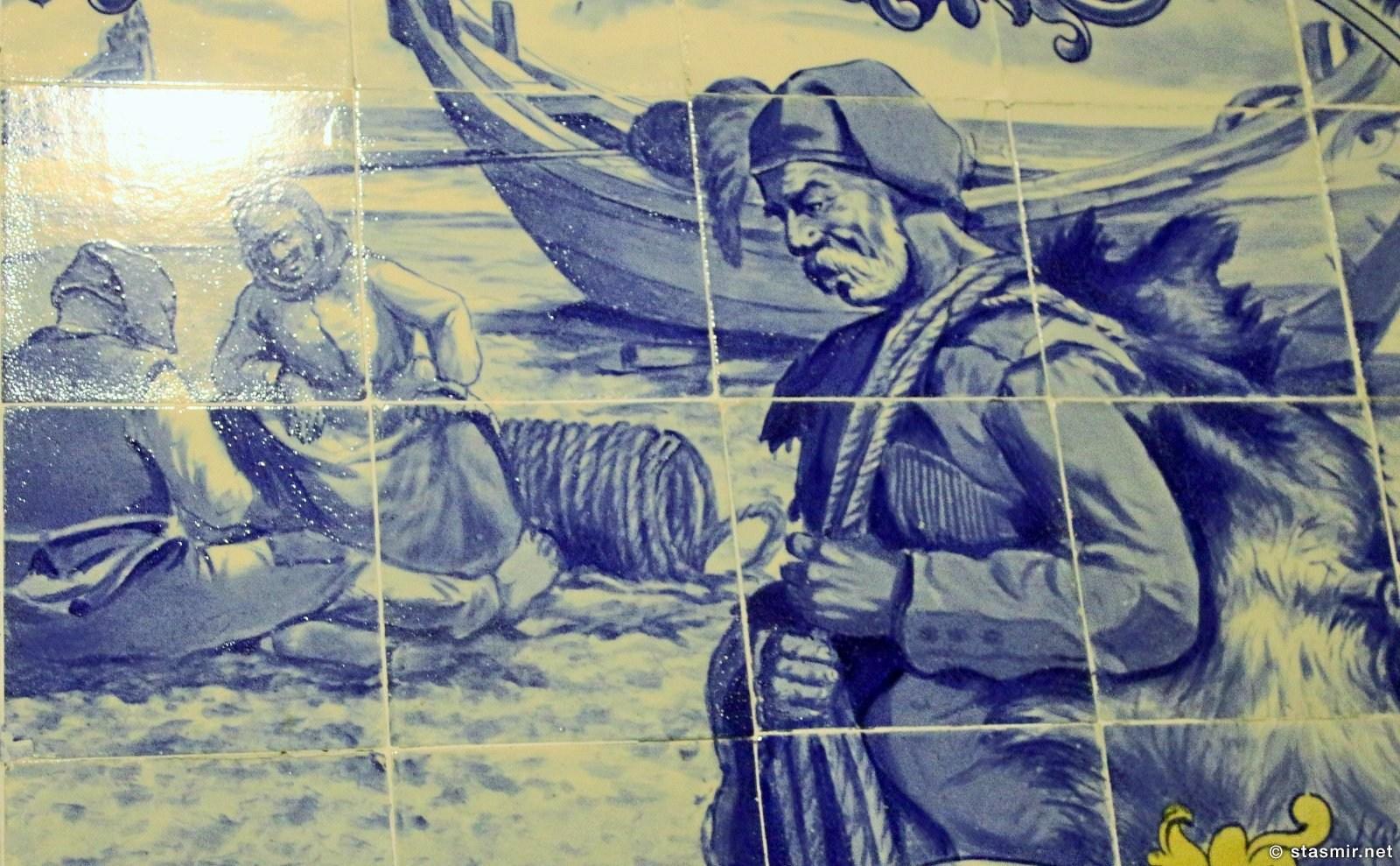 азулейжу с изображением португальского моряка, фото Стасмир, photo Stasmir
