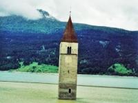 drowned tower, Italy, наводнения на пути из Австрии в Италию, фото Стасмир, Photo Stasmir