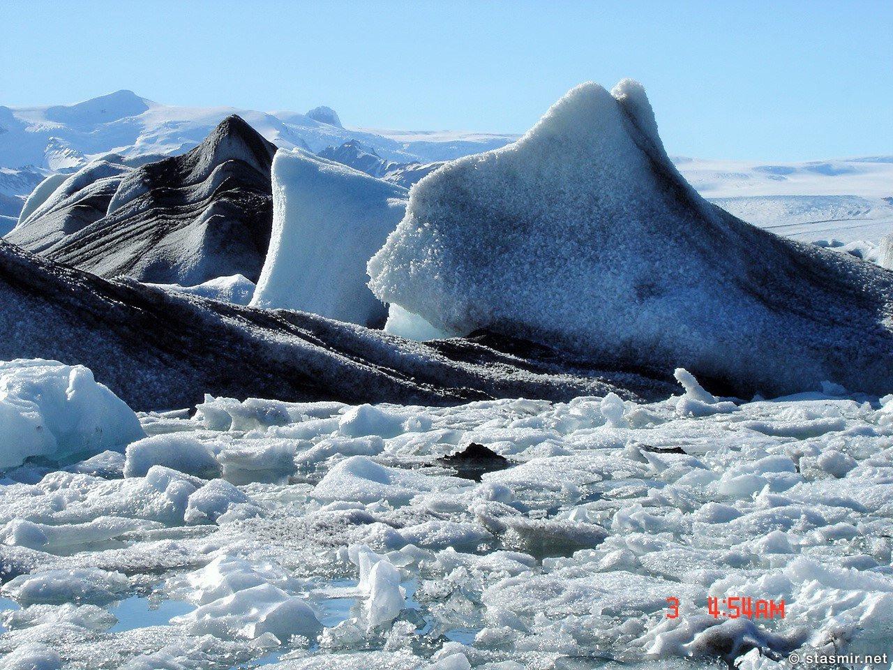 Йёкюльсаурлоун, Jökulsárlón - Ледниковая лагуна на Лендике Ватнайёкюдль, фото Стасмир, photo Stasmir
