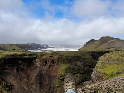 ботинок и ледник Кётлюйокудль, фото Стасмир, photo Stasmir, Южный Берег Исландии
