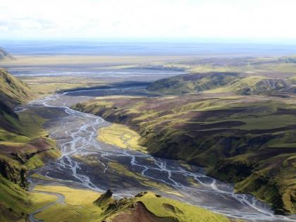 реки текут на юг, зеленые луга по маршруту Такгил, Такгиль, Þakgíl, Тагил, фото Стасмир, photo Stasmir