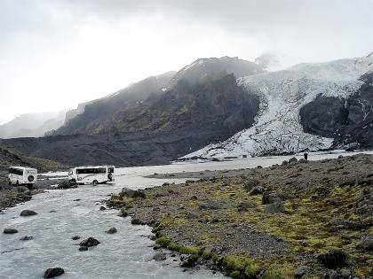 ледниковая лагуна по пути к Тоурсмёрку, которая исчезла в 2010 году, Тоурсмёрк, Торсмерк, Þórsmörk, фото Стасмир, photo Stasmir