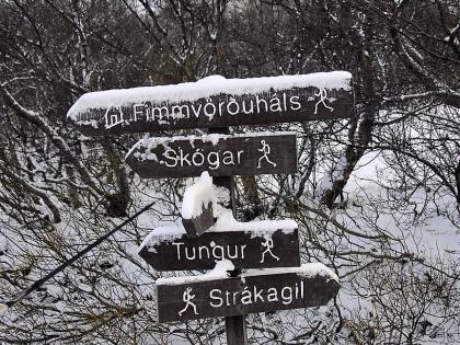 Указатели на туристической базе Тоурсмёрк: Фиммвёрдюхаульс, Тоурсмёрк, Торсморк, Þórsmörk, фото Стасмир, photo Stasmir