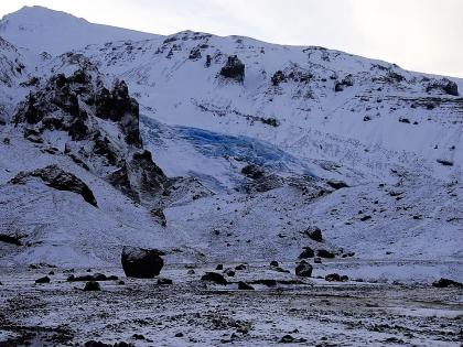 Язык ледника Эйяфьядлайёкюдль по пути к туристической базе Тоурсмёрк, Торсморк, Þórsmörk, фото Стасмир, photo Stasmir
