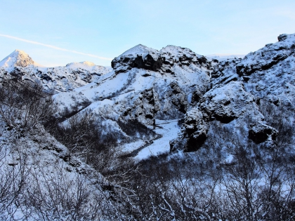 Зимние виды на маршруте Тоурсмёрк, Торсморк, Þórsmörk, фото Стасмир, photo Stasmir