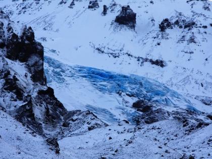 Синий лед с ледника Эйяфьядлайёкюдль по дороге к Тоурсмёрку, Торсморк, Þórsmörk, фото Стасмир, photo Stasmir