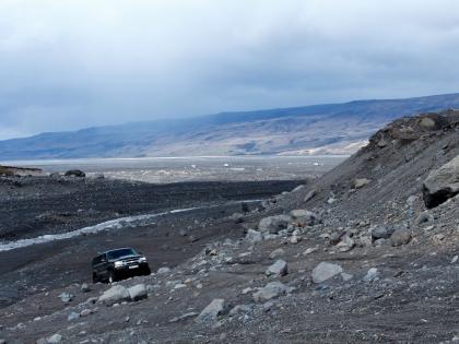 Джип на пути к долине Торсморк, Тоурсмёрк, Þórsmörk, фото Стасмир, photo Stasmir