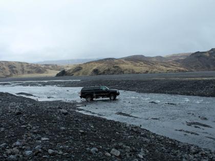 Переправа через ручеек по пути к Торусмёрку, Торсморк, Þórsmörk, фото Стасмир, photo Stasmir