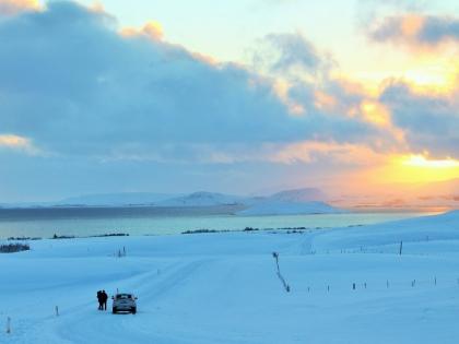Вид на озеро Тингвадлаватн, Золотое кольцо Исландии зимой, фото Стасмир, Photo Stasmir