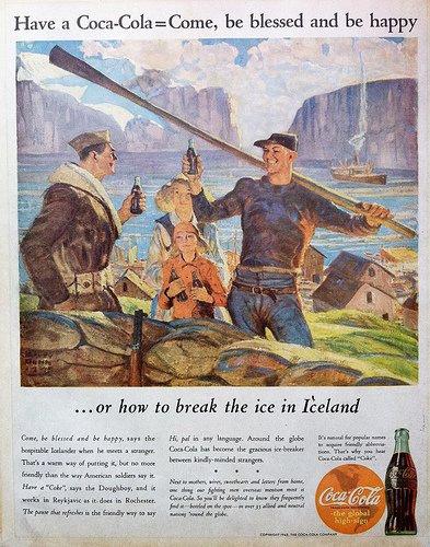 Рекламный плакат кока-колы для Исландии, Фотография из интернета