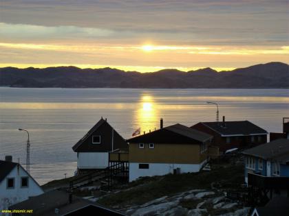 Белая ночь в Гренландии, Нуук, фото Стасмир, photo Stasmir