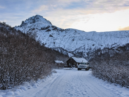 Лес Тора. Туристическая база Тоурсмёрк, березовый лес в Исландии зимой, Торсморк, Þórsmörk, Thórsmörk, фото Стасмир, photo Stasmir