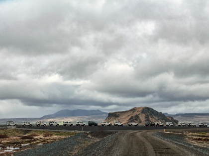 Лес Тора. Виды по пути к Торсморку, Торсморк, Þórsmörk, Thórsmörk, фото Стасмир, photo Stasmir, колонна джипов