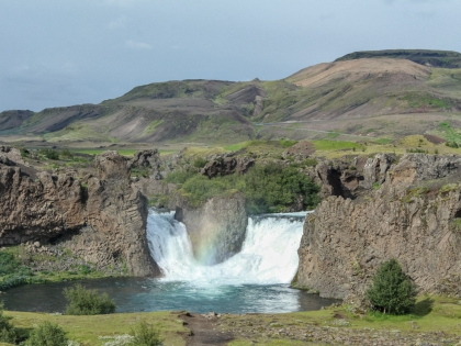 Landmannalaugar, Ландманналёйгар, Ландманналаугар, фото Стасмир, Photo Stasmir, джип-сафари, Хьяулпарфосс, водопад Hjálparfoss