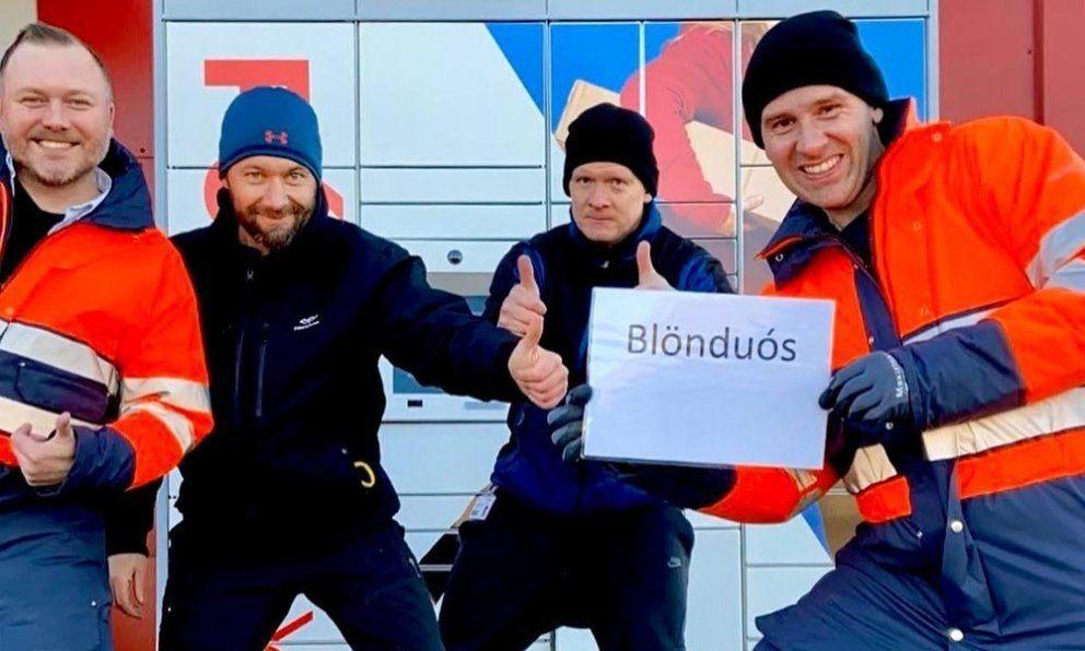 Почтари довольны установкой постбокса в Бёндуоусе. Фото со страницы Pósturinn на фейсбук