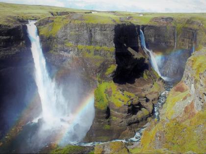 Háifoss, Хауифосс, Южная Исландия, фото Стасмир, photo Stasmir