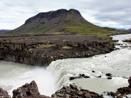Тьоувафосс, þjófafoss водопад в Южной Исландии, фото Стасмир, Photo Stasmir