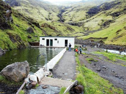 заброшенный и не слишком чистый бассейн Seljavallalaug в Южной Исландии, Photo Stasmir, фото Стасмир