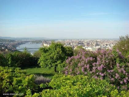 Вид в горы Геллерт на Будапешт, Венгрия, фото Стасмир, photo Stasmir