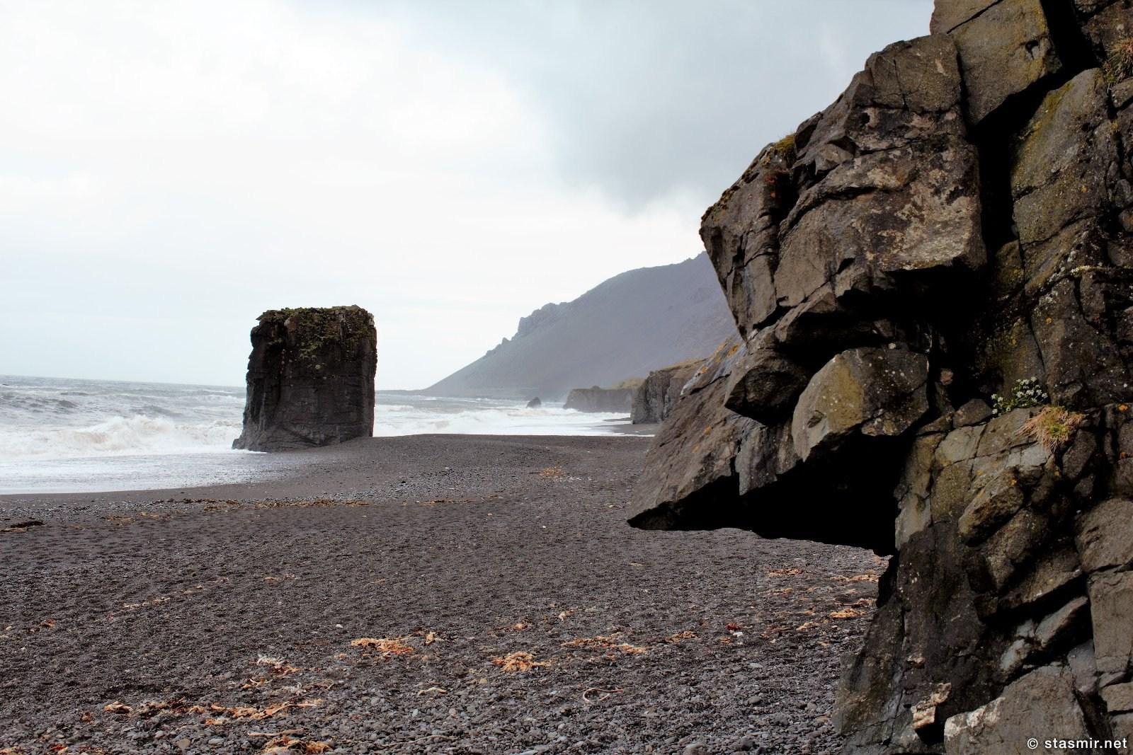 красивый пляж по пути в Восточные Фьорды, фото Стасмир, photo Stasmir