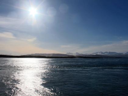 Зимняя Исландия с корабля из Стиккисхолмура, фото Стасмир,