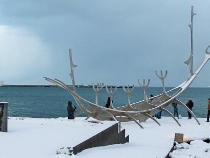 Ладья Соулфари зимой в Исландии, фото Стасмир, Photo Stasmir