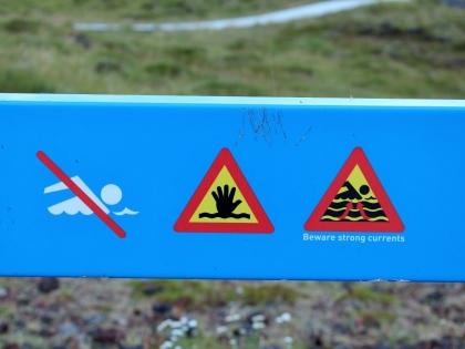 дорожные знаки в Исландии, осторожно: не тоните в Исландии, Photo Stasmir, фото Стасмир
