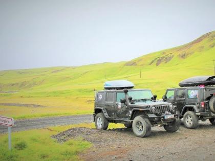 Jeep, Fjaðrárgljúfur, Fjadrargljufur Canyon, Город Киркьюбайярклёйстюр, Фото Стасмир, Photo Stasmir
