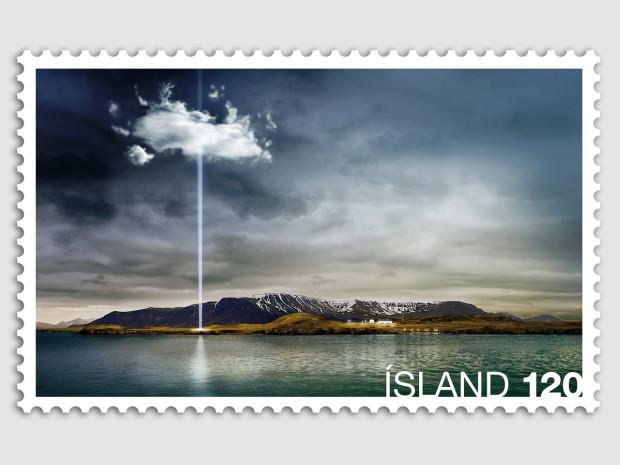 Imagine Peace Tower stamp, Рейкьявик, Исландия
