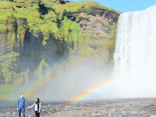 радуга, водопады в Исландии, Южный Берег Исландии