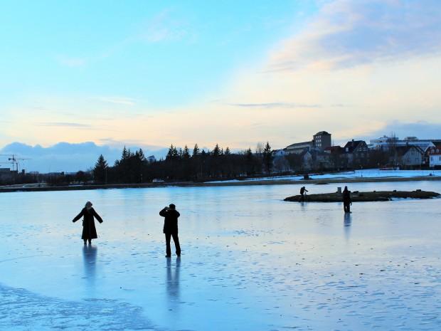 Тьёрнин - люди катаются на коньках
