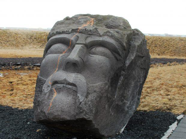 голова викинга, музей в Ньярвике, фото Стасмир, photo Stasmir