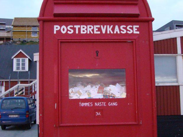 почтовый ящик для писем Санте в Нуук, Гренландия, фото Стасмир, photo Stasmir