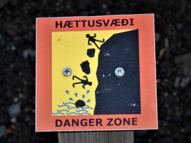 Предупредительный знак в Исландии, фото Стасмир, photo Stasmir