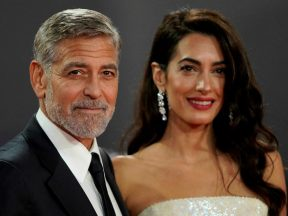 Amal Clooney, George Clooney and Earings Source AFP